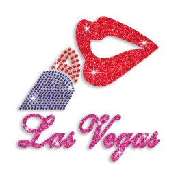 Party Night in Vegas Glitter Sequin Iron-on Transfer