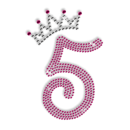 Rhinestone Number Custom Bling Iron on