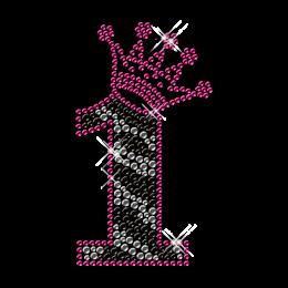 Zebra Print Detailed Hotfix Stud Number Transfer