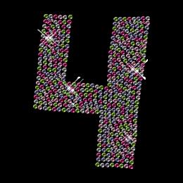 Multi-color Nailhead Number Hotfix Transfer