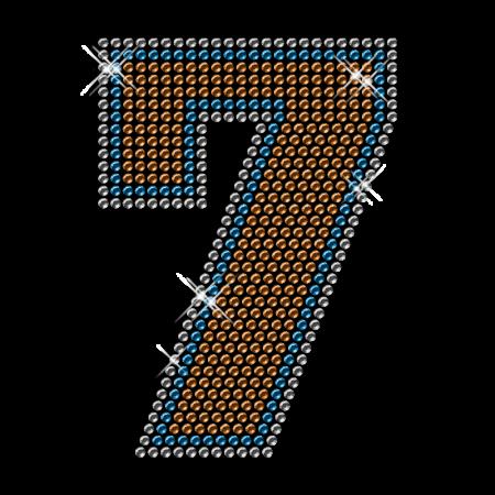 Custom Iron on Diamante Number Transfer for T Shirt