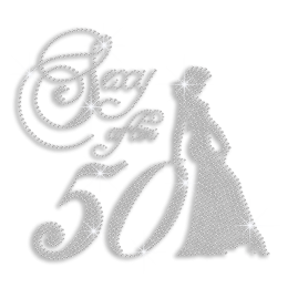 Custom Best Sparkling Sexy After 50 Long Dress Lady Pure Crystal Rhinestone Iron on Transfer Motif for Clothes