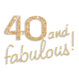 Custom Best Number 40 and Fabulous Rhinestone and Glitter Iron on Transfer Design