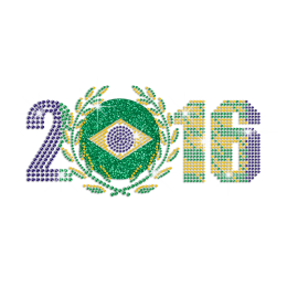 2016 Summer Olympic Games In Brazil Iron on Rhinestone Transfer