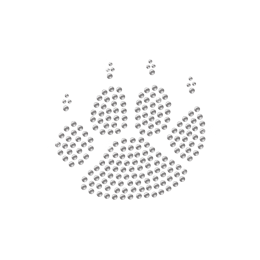 Paw with Claws Rhinestone Transfer Iron On Motif