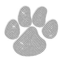 Pure Crystal Rhinestone Paw Iron on Motif for Shirt
