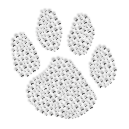 Shining Rhinestone Paw Iron on Motif For Clothes