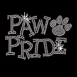 Crystal Paw Pride Iron-on Rhinestone Transfer Decal