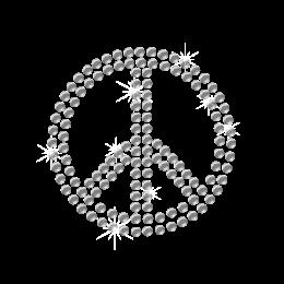 Hotfix Crystal Peace Symbol Rhinestone Pattern