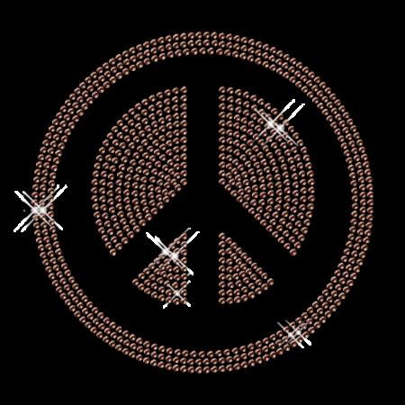 Hotfix Stud Peace Symbol Simple Transfer Design