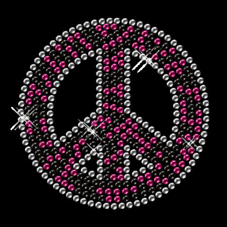 Iron on Peace Rhinestone Design Transfer
