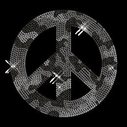 Rhinestone Image Peace Iron ons Design