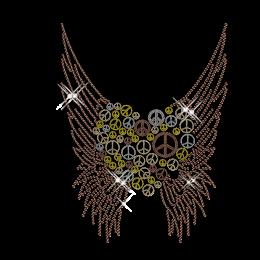 Peace Love n Wings Iron on Custom Transfer