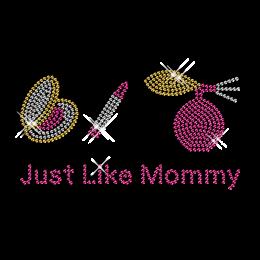 Shining Rhinestone Transfer Just Love Mommy Motif For Shirts