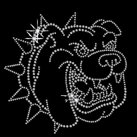 Sparkling Crystal Bulldog Iron Rhinestone Transfer
