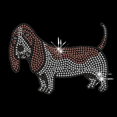 Shining Depressed Dog Iron-on Rhienstone Pattern