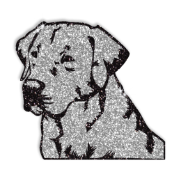 Sparkle Meditating Dog Hotfix Glitter Motif for Shirts