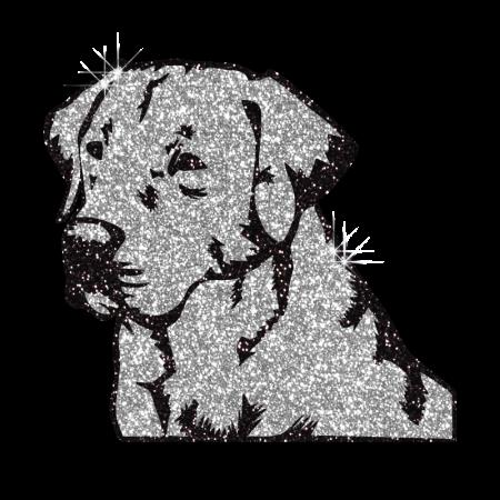 Sparkle Meditating Dog Hotfix Glitter Motif for Shirts