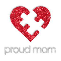 Sparkle Proud Autism Mom Bling Iron on Pattern