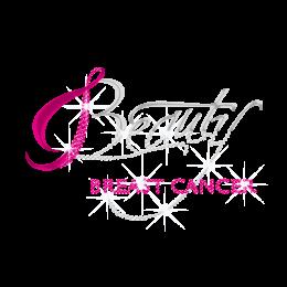 Holofoil Beauty Breast Cancer Rhinestud Design