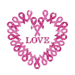 Bling Pink Love Rhinestud Decal