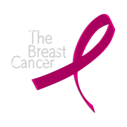 Holofoil The Breast Cancer Rhinestone Transfer