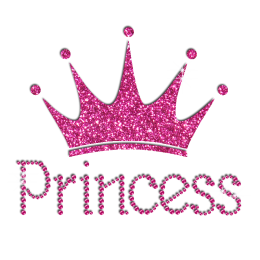 Pink Diamante Transfer Princess and Crown
