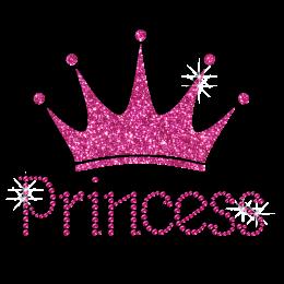 Pink Diamante Transfer Princess and Crown