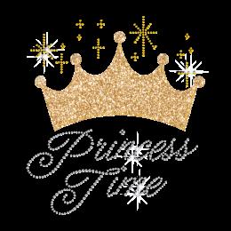 Princess Time Crown Custom Bling Iron ons