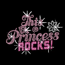 Hot-fix Pink Diamante Words Transfer This Princess Rocks