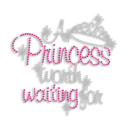 Bling Princess Worth Waiting for Iron-on Rhinestone Transfer