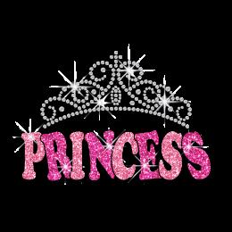 Gorgeous Princess Crown Iron-on Glitter Rhinestone Transfer