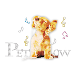 Glitter Cocker Spaniel Rhinestud Decal for ISS