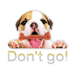 ISS Glitter Don't Go Bulldog Rhinestud Decal