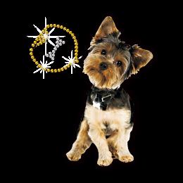 ISS Cute Dog Heat Press Rhinestone Transfer