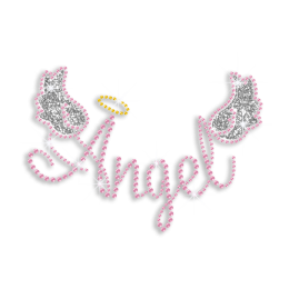 Cute Angel Wings Iron-on Glitter Rhinestone Transfer