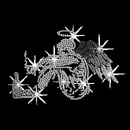 Customizable Fallen Angel Hotfix Rhinestone Transfer