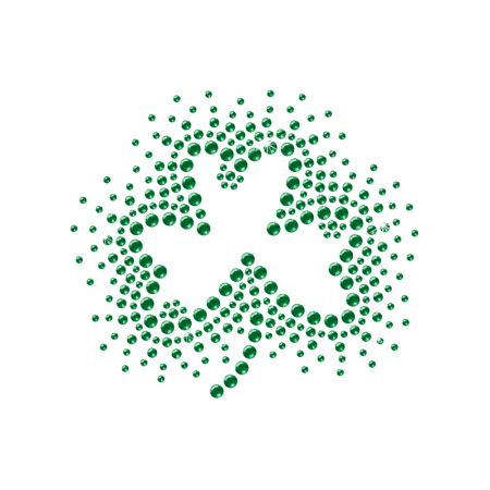 Shining Rhinestone Shamrock Hot-fix Design