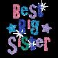 Sparkle Hotfix Bling Transfer Best Big Sister