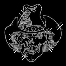 Crystal Rhinestone Skull Iron on Motif
