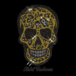 Crystal Rhinestud Skull Iron on Motif