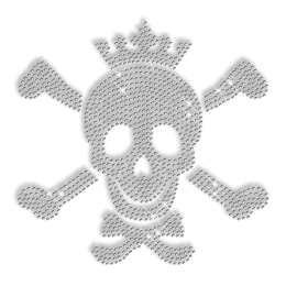 Crystal Rhinestone Skull Iron on Pattern