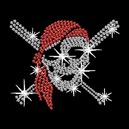 Cool Hot fix Pirate Skull Rhinestone Iron on Motif