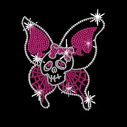 Hotfix Skull Butterfly Pattern Rhinestone Motif