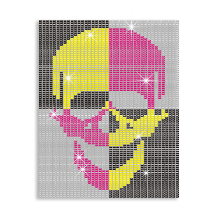 Bling Skull Hotfix Photo Transfer Custom Design