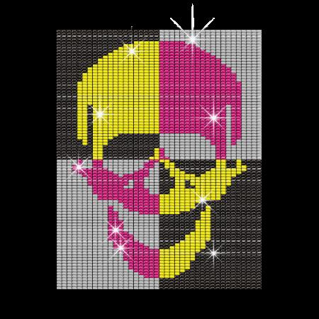 Bling Skull Hotfix Photo Transfer Custom Design