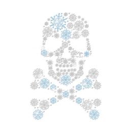 Pretty Pirate Skull Iron on Stud Rhinestone Transfer