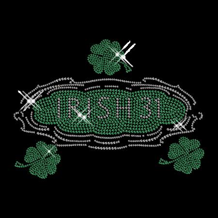 Eat Drink and Be Irish Iron on Rhinestone Motif