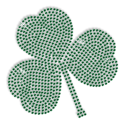 Best Sparkling Rhinestone Green Shamrock Iron on Transfer Design for Clothes