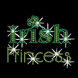 Green Irish Princess Hotfix Bling Design